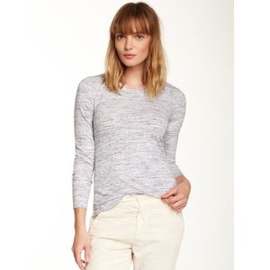 James Perse Salt & Pepper Long Sleeve Crew Tee - 4